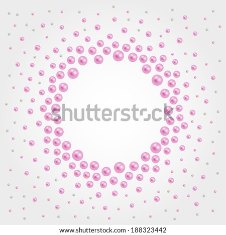 Abstract background with pearls - stock vector