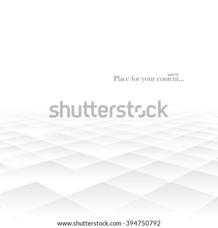 Abstract background with perspective. White geometric shapes. Vector illustration eps10. - stock vector