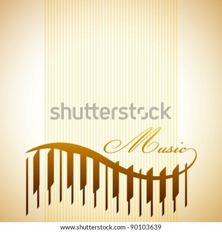 abstract background with piano - stock vector