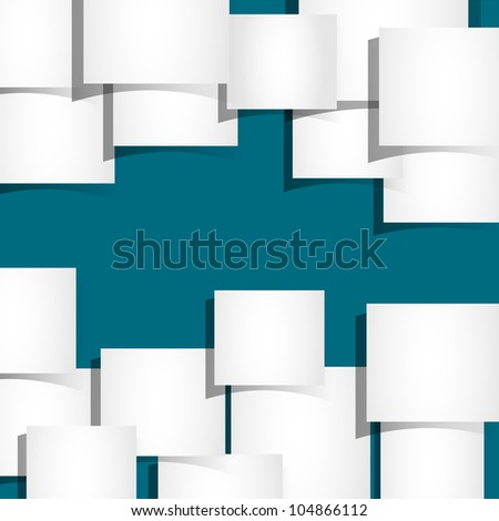 Abstract background with pieces of paper.Vector eps10 - stock vector