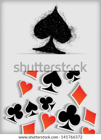 Abstract background with playing cards symbol
