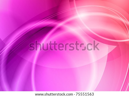 abstract background with purple curves - stock vector