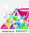 Abstract background with pyramid 3d illustration. Eps 10. - stock vector