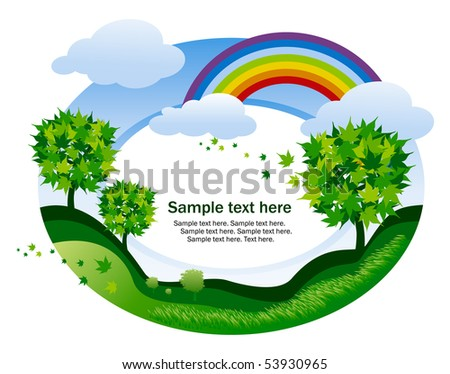 abstract background with rainbow - stock vector