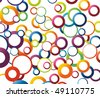 Abstract background with rainbow colored circles. Vector illustration - stock vector