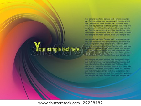 Abstract background with rainbow swirl. Business template.