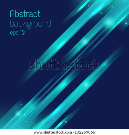 Abstract background with rays. - stock vector