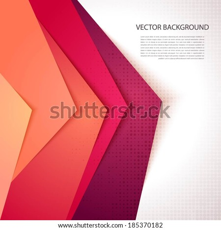 Abstract background with realistic shadows.  - stock vector