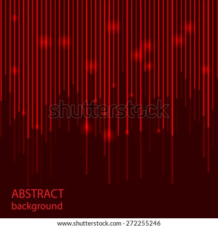 Abstract background with red laser lines. Vector illustration. - stock vector