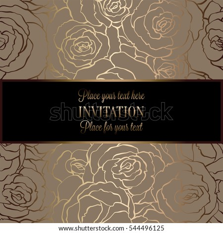 abstract background roses luxury beige gold stock vector