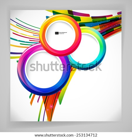 abstract background with round frames. - stock vector