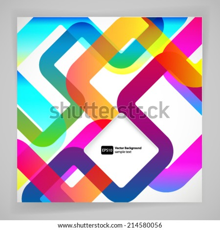 Abstract background with rounded design elements. - stock vector