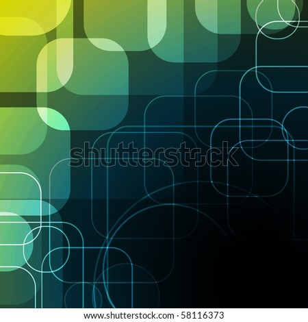 abstract background with rounded squares eps10 - stock vector