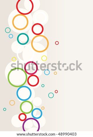 Abstract background with rounds - stock vector