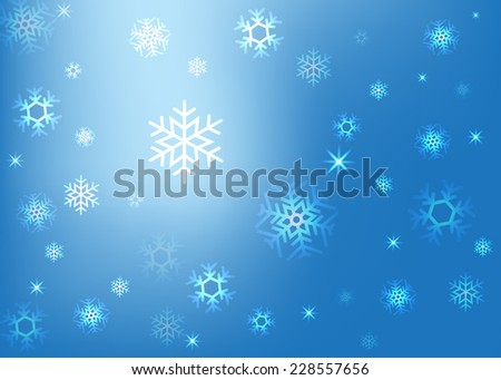 abstract background with snowflakes vector illustration - stock vector