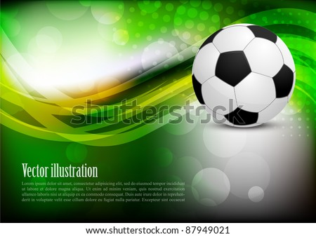 Abstract background with soccer ball - stock vector