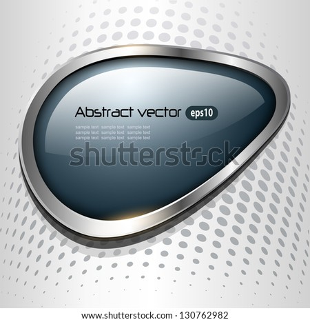 Abstract background with speech bubble grey blue, vector. - stock vector