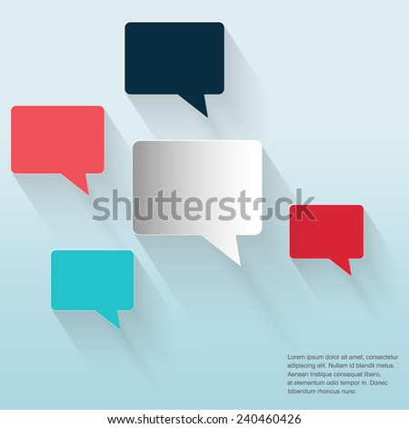 Abstract background with Speech Bubbles symbol. Concept showing conversation and discussion, question and answer. - stock vector