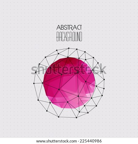 Abstract background with sphere - stock vector