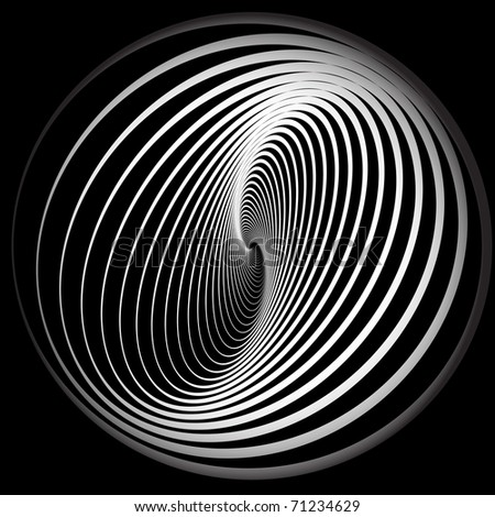 Abstract background with spiral movement. Vector illustration. - stock vector
