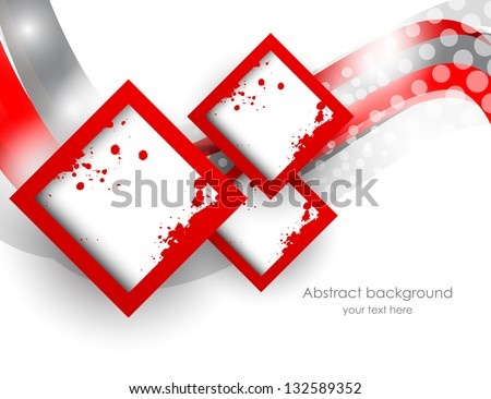 Abstract background with squares - stock vector