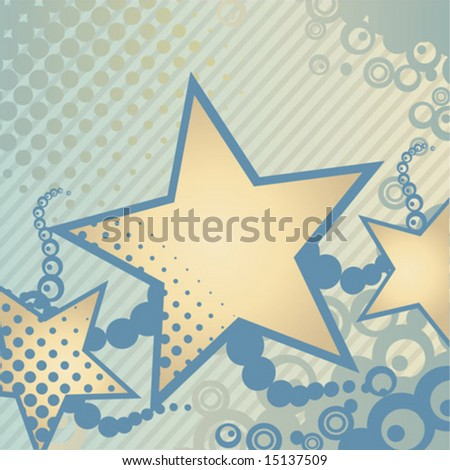 Abstract background with star design