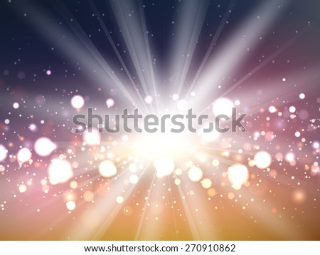 Abstract background with starburst design - stock vector