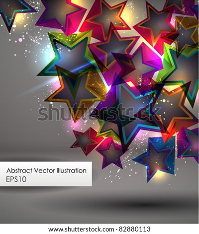 Abstract Background with Stars. EPS 10. - stock vector