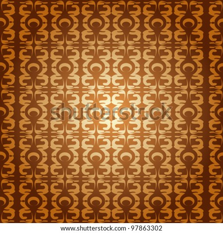Abstract background with stylized motives pattern - stock vector