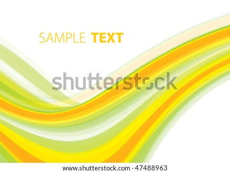 Abstract background with summery wave. Vector