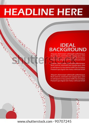 abstract background with swirls - stock vector