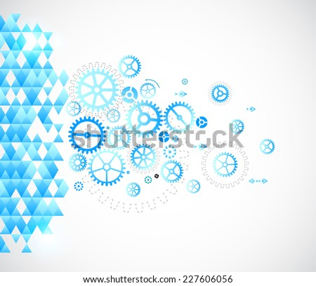Abstract background with technological elements - stock vector