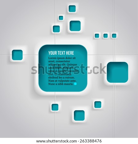 Abstract background with text's windows. eps.10 - stock vector