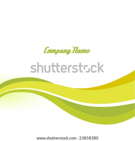 Abstract background with the green bent lines. Vector illustration. - stock vector