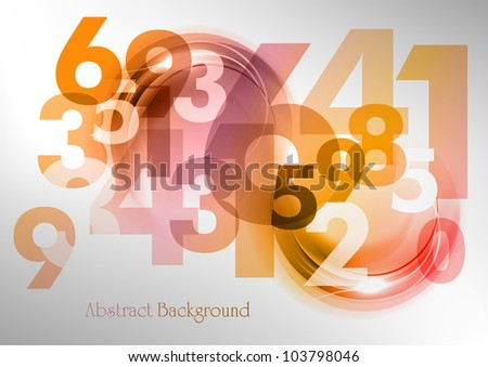 abstract background with the numbers - stock vector