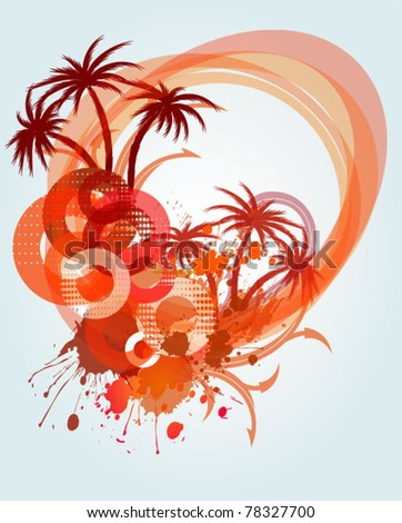 Abstract background with the palms