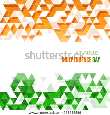Abstract background with the symbol of India. The tricolor flag forfor Indian Republic day and Independence Day. - stock vector