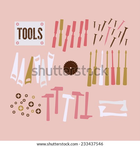Abstract Background with tools - stock vector