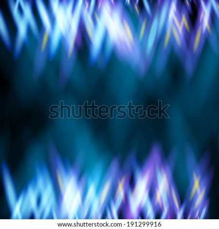 Abstract background with top and bottom borders like as flame of gas cooker - stock vector
