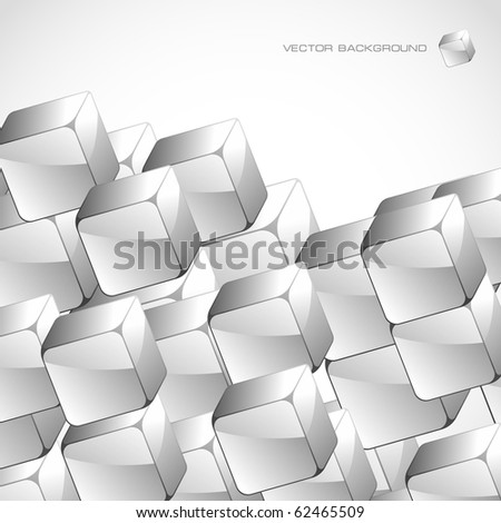 Abstract background with transparent boxes - stock vector