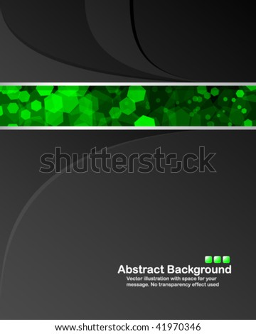 "Abstract background with transparent random green cells and space for your message. No ""transparency"" effect used - stock vector"