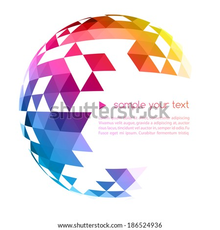 Abstract background with triangle - stock vector