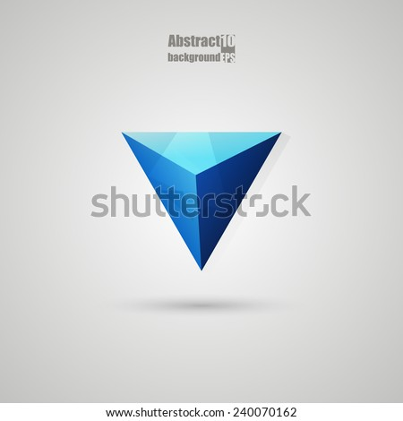 Abstract  background with triangle. Eps10 Vector illustration - stock vector