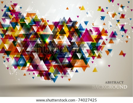 Abstract Background with triangle pattern. - stock vector