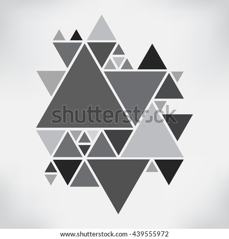 Vector Hipster Triangle Background Poster Different Stock