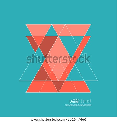 Abstract background with triangles. Triangle pattern background.  - stock vector