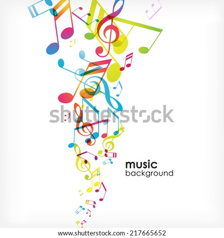 Abstract background with tunes. - stock vector