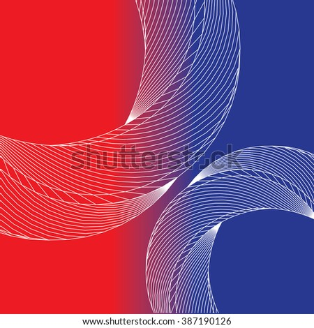 Abstract Background with Twisted Elements. Vector Illustration. - stock vector