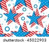 abstract background with us flag in star, illustration - stock vector