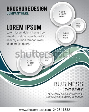 Abstract background with wave - brochure design or flyer - stock vector